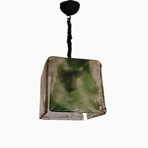 Lámpara colgante de cristal de Murano de Carlo Muson para Mazzega, años 60