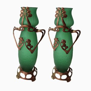 Art Noveau Vases, Set of 2