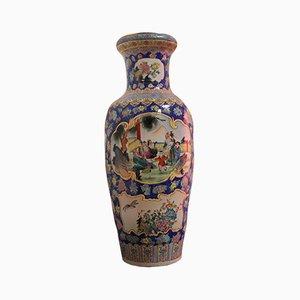 Vaso grande con decorazione cinese, anni '50