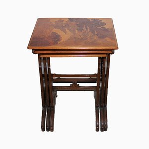 Antique Nesting Tables by Emile Gallé