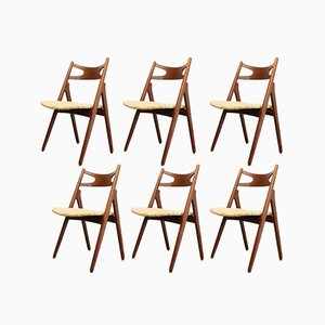 CH29 Sawbuck Dining Chairs by Hans J. Wegner for Carl Hansen & Søn, 1960s, Set of 6