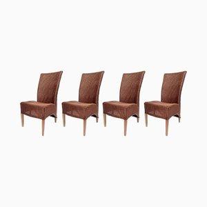 Vintage Stühle aus Rattan von Lloyd Loom für SM Slootstra, 4er Set