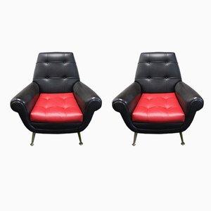 Vintage Lounge Chairs by Gigi Radice, 1970s, Set of 2