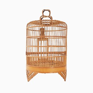 Mid-Century French Wooden Birdcage, 1950s