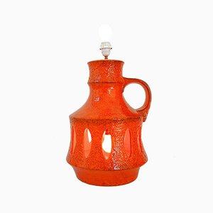 Lámpara de pie vintage grande de cerámica, años 70