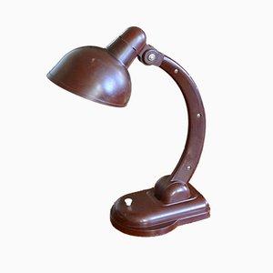 Lampada da tavolo Bauhaus Sigma in bachelite di Christian Dell, anni '60