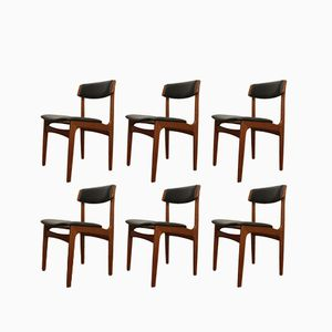 Vintage Danish Teak Dining Chairs by Thorsø Møbelfabrik 1960s, Set of 6