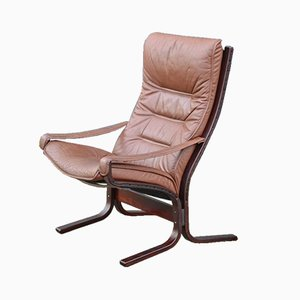 Leather Siesta Armchair by Ingmar Relling for Westnofa, 1960s
