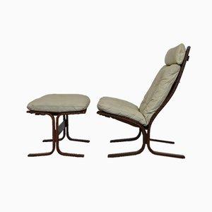 Siesta Sessel & Fußhocker von Ingmar Relling für Westnofa, 1960er