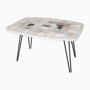 Mesa de jardín vintage de piedra y mármol, años 60