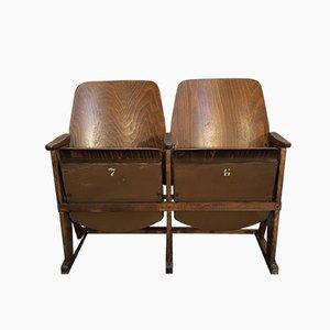 Seduta da cinema a due posti vintage di TON, anni '60