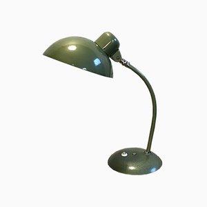 Lámpara de escritorio industrial vintage en verde, años 50