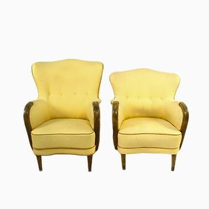 Danish Easy Chairs, 1950s, Set of 2