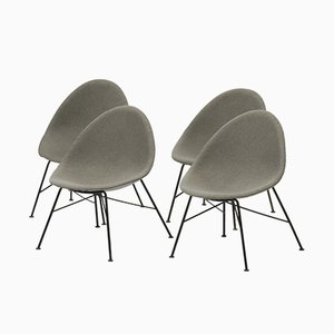 Fiberglass Cocktail Chairs, 1960s, Set of 4