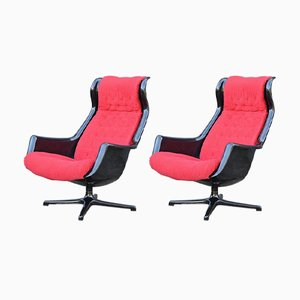 Galaxy Lounge Chairs by Alf Svensson & Yngvar Sandström for Dux, 1960s, Set of 2