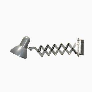Lámpara de acordeón gris, años 80