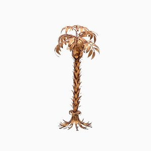 Vintage Golden Palm Tree Floor Lamp by Hans Kögl, 1970s