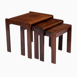 Tavolini ad incastro di Svend Madsen per Karl Lindegaard, anni '70