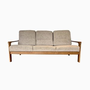 Vintage D7 French Oak Wood Sofa, 1970s
