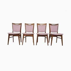 Niederländische Mid-Century Esszimmerstühle, 1960er, 4er Set