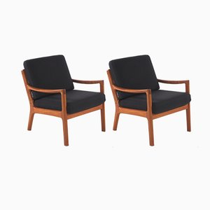 Senator Model Armchairs by Ole Wanscher for Cado, 1960s, Set of 2