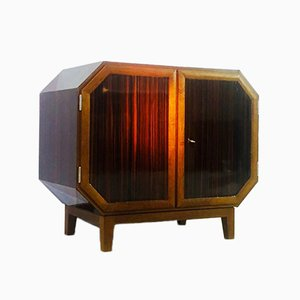 Vintage French Art Deco Whiskey Bar Cabinet, 1930s