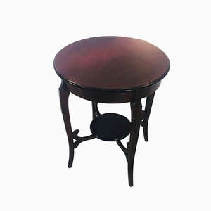 Biedermeier Style Mahogany Side Table, 1960s