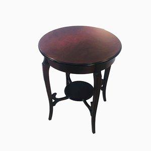 Tavolino in stile Biedermeier in mogano, anni '60