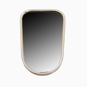 Small Free Form Mirror with Brass Edges, 1970s