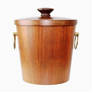 Danish Teak Ice Bucket, 1960s