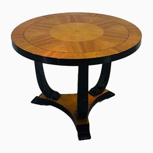 Art Deco Ash & Cherry Side Table, 1930s