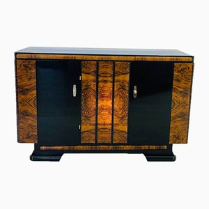 Art Deco Style German Walnut & Macassar Sideboard, 1940s