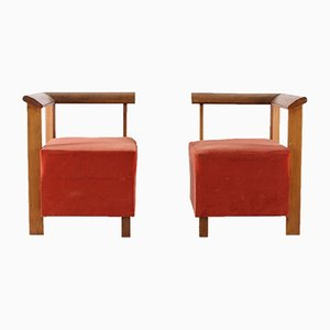 Modernist Side Chairs, 1930s, Set of 2