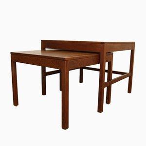 Tavolino da caffè nr. 5377 Mid-Century in quercia di Børge Mogensen per Fredericia, Danimarca, set di 2