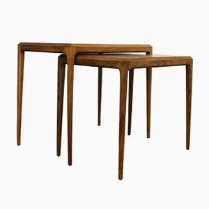 Vintage Danish Rosewood Nesting Tables by Johannes Andersen for CFC Silkeborg