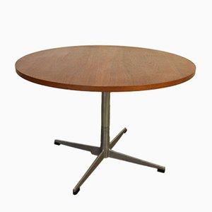 Table Basse Ronde Vintage en Teck, Danemark