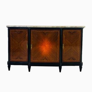 18th Century French Sideboard with White Marble Top