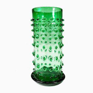 Jarrón italiano de cristal de Murano, años 70