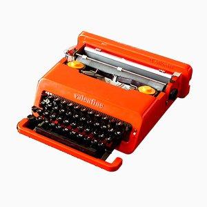 Máquina de escribir Valentine vintage de Ettore Sottsass para Olivetti