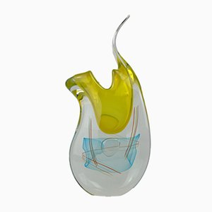 Cromo Vase aus Muranoglas von Valter Rossi, 2019
