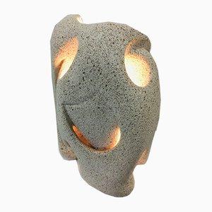 Lámpara de mesa francesa de piedra tallada, años 70