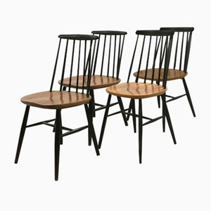 Dining Chairs by Ilmari Tapiovaara, 1950s, Set of 4