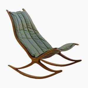 Sculptural Oak Rocking Chair by Robin Williams, 1970s