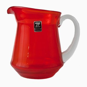 Red Jug from Ząbkowice Glasshouse, 1980s