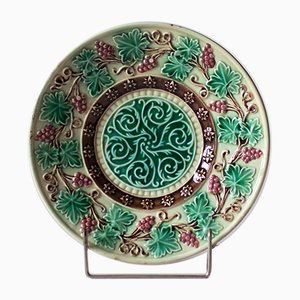 Majolica Plate from GS Zell, 1920s
