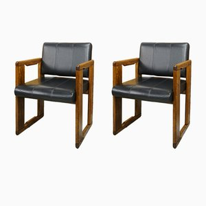 Italian Desk Chairs by Tobia & Afra Scarpa, 1970s, Set of 2