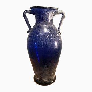 Jarrón italiano de cristal de Murano de Seguso, años 60