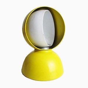 Lampada da tavolo Eclipse gialla di Vico Magistretti per Artemide, anni '60