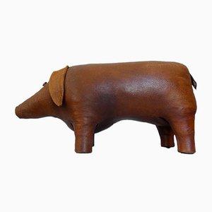 Fußhocker aus Leder in Schweine-Optik von Dimitri Omersa, 1960er