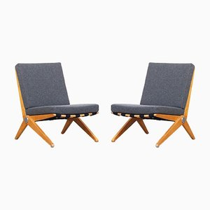 Scissor Lounge Chairs by Pierre Jeanneret for Knoll International, 1960s, Set of 2